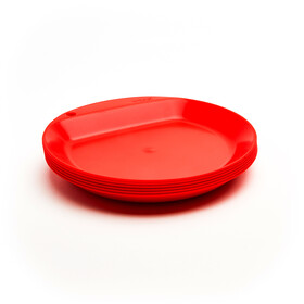 Wildo Camper Plate Flat Set Unicolor 6x, red